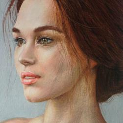 Portrait Drawing in Coloured Pencil by Diana Moore - New Zealand Artist